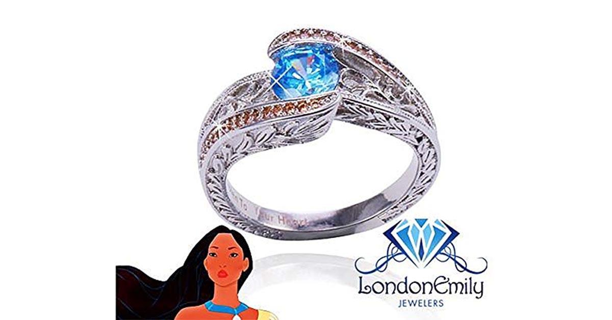 Pocahontas Blue Topaz Ring