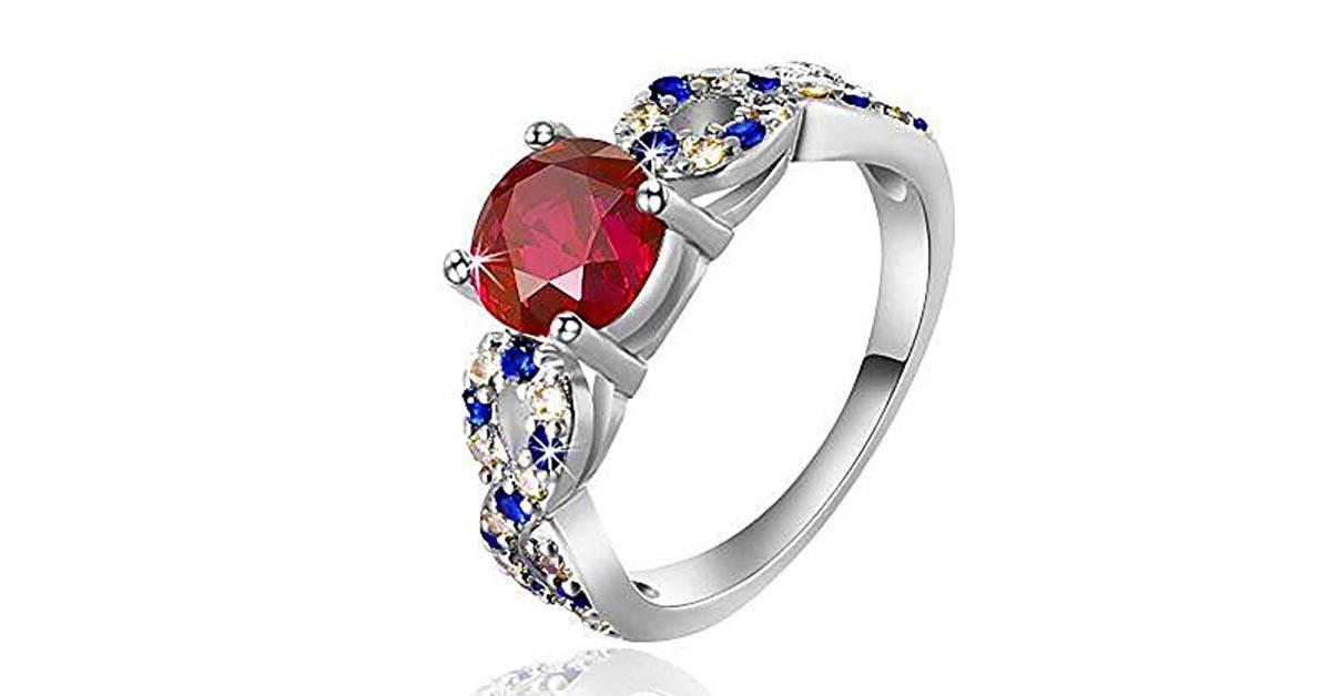 Snow White Garnet Ring