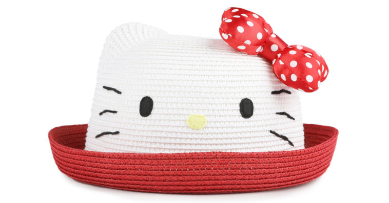 Hello Kitty Girls Straw Hat