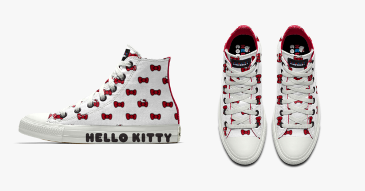 Converse Chuck Taylor All Star X Hello Kitty Custom High Top Shoes