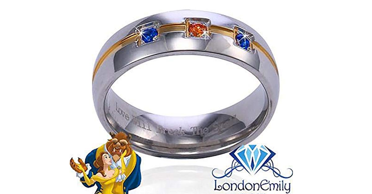 Beauty and the Beast Sapphire and Morganite Ring