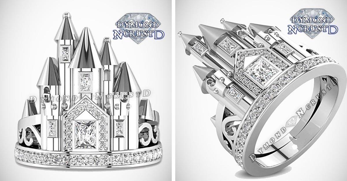 Sleeping Beauty Castle Diamond Ring