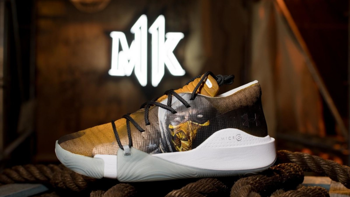 Under Armour x Mortal Kombat Scorpion shoes