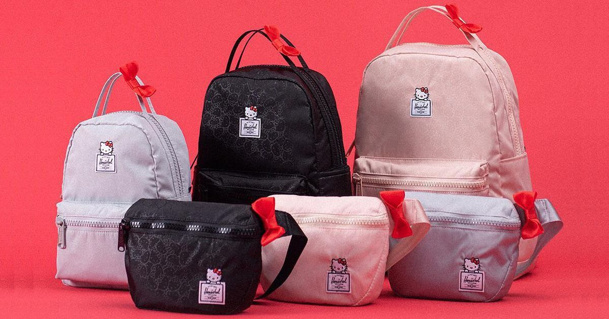 ea7208ca05c Herschel Supply teams up with Hello Kitty for its cutest bag line ever