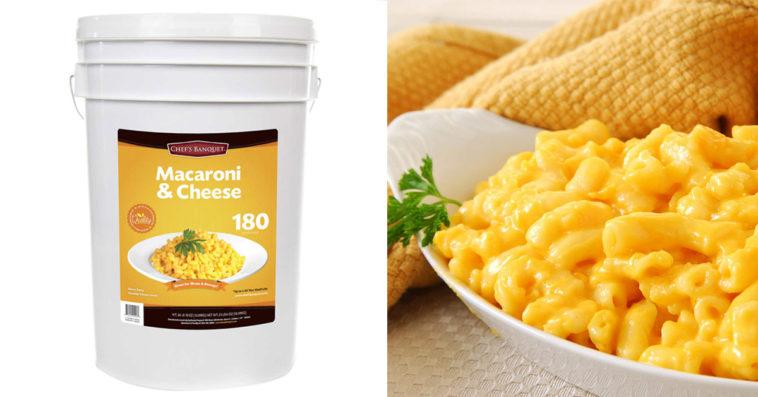 Chef's Banquet Macaroni & Cheese Storage Bucket