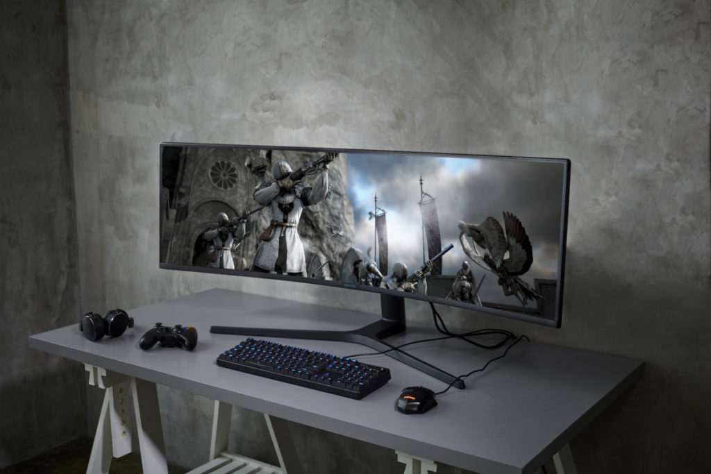 Samsung CRG9 super wide monitor