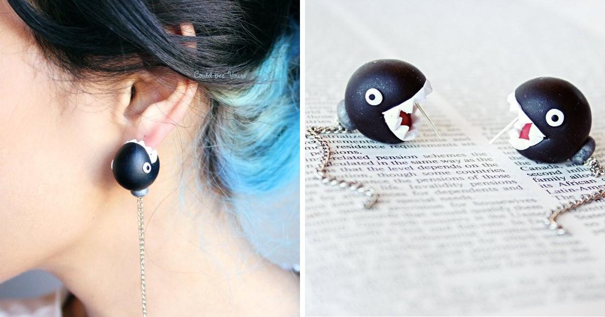 super mario chain chomp earrings - 19 Super unique gifts for Super Mario fans