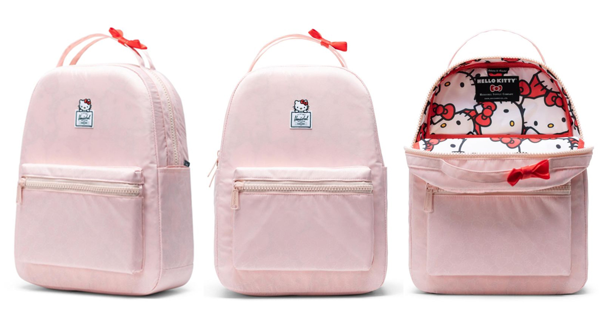 The Hello Kitty x Herschel Supply Nova Backpack