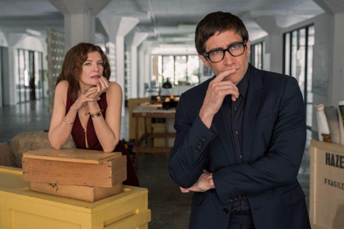 Rene Russo and Jake Gyllenhaal in Velvet Buzzsaw