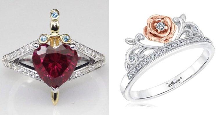 Disney Princess-inspired wedding and engagement rings