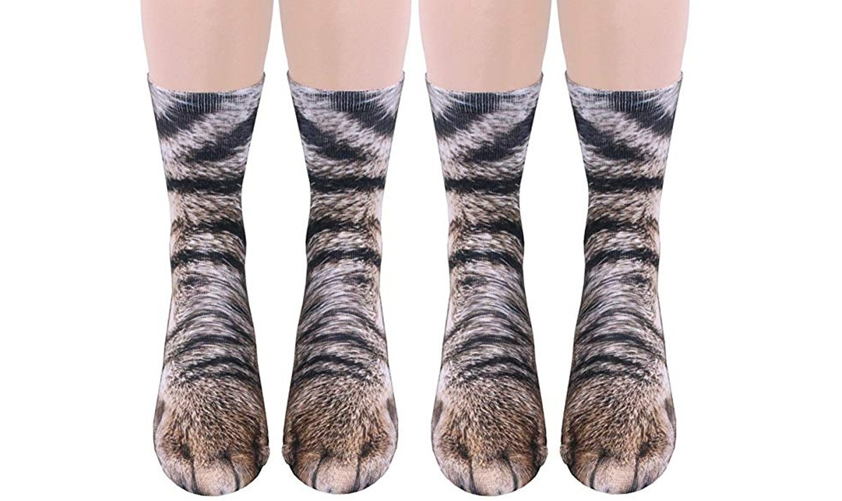 2 pack 3d cat socks - 45 incredibly wacky socks that add a dash of personality to your feet