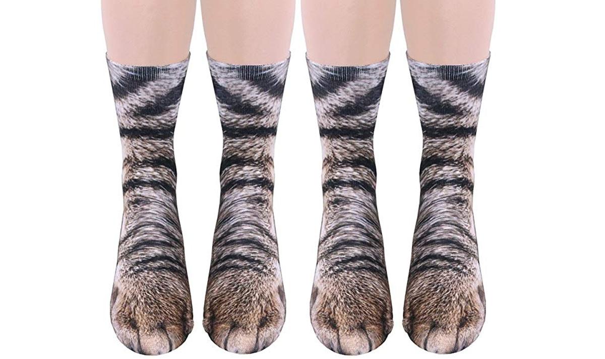 2-Pack 3D Cat Socks