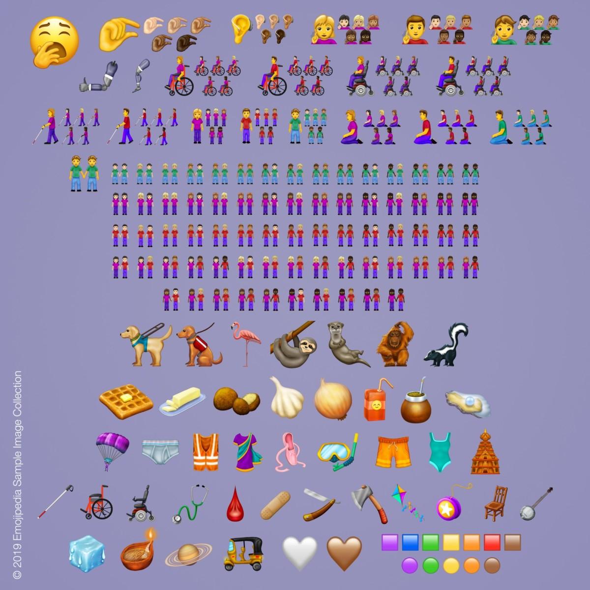 The complete 2019 emoji set