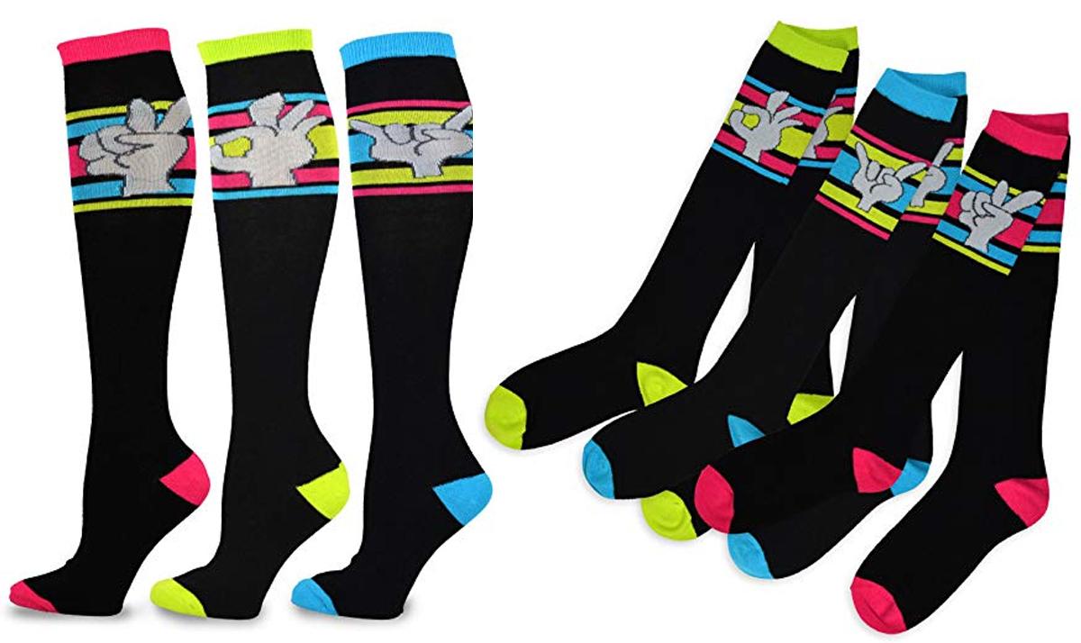 3-Pack Finger Expression Socks