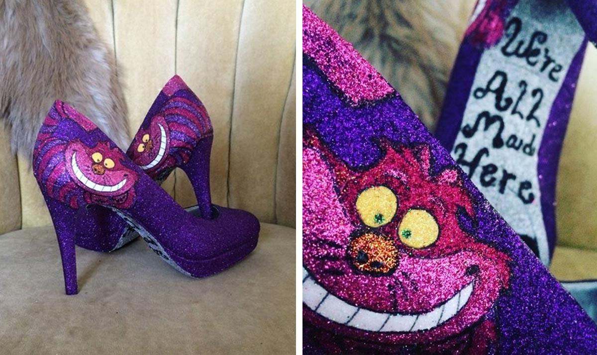 Alice in Wonderland Cheshire Cat High Heels