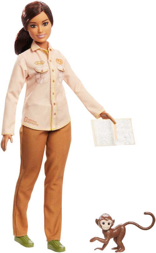 Barbie x National Geographic Wildlife Conservationist playset