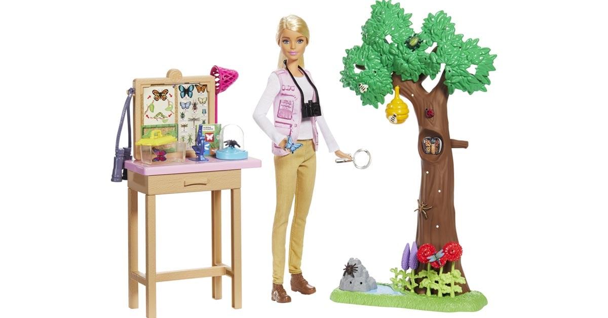 Barbie x National Geographic Entomologist playset