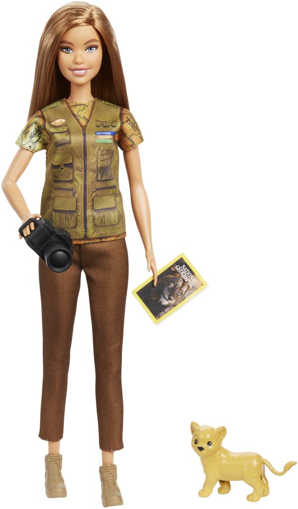 Barbie x National Geographic Wildlife Photojournalist playset