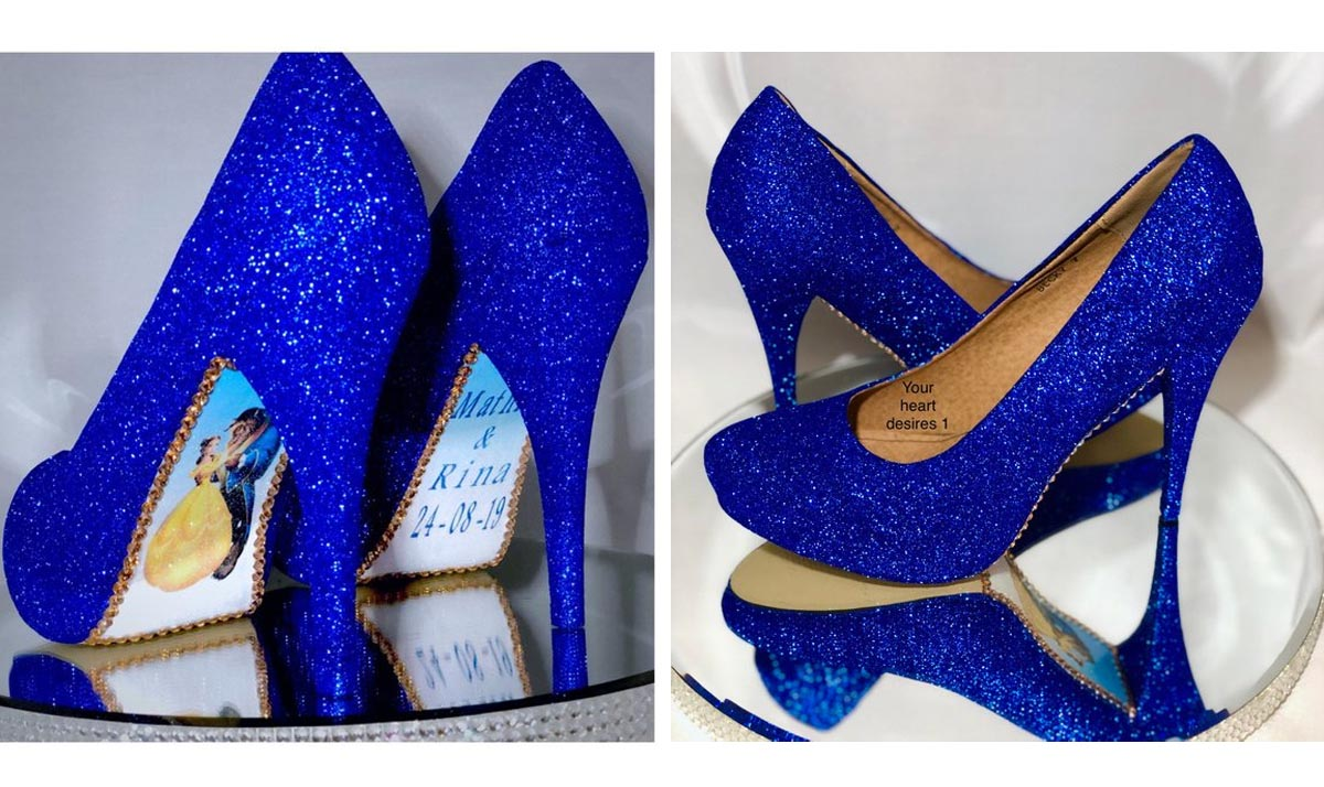 Beauty and the Beast Bridal Pumps