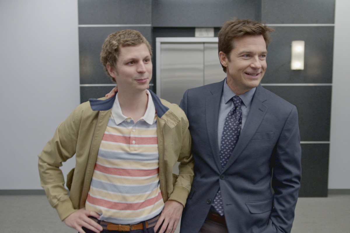 Michael Cera as George Michael Bluth and Jason Bateman as Michael Bluth on Netflix's Arrested Development