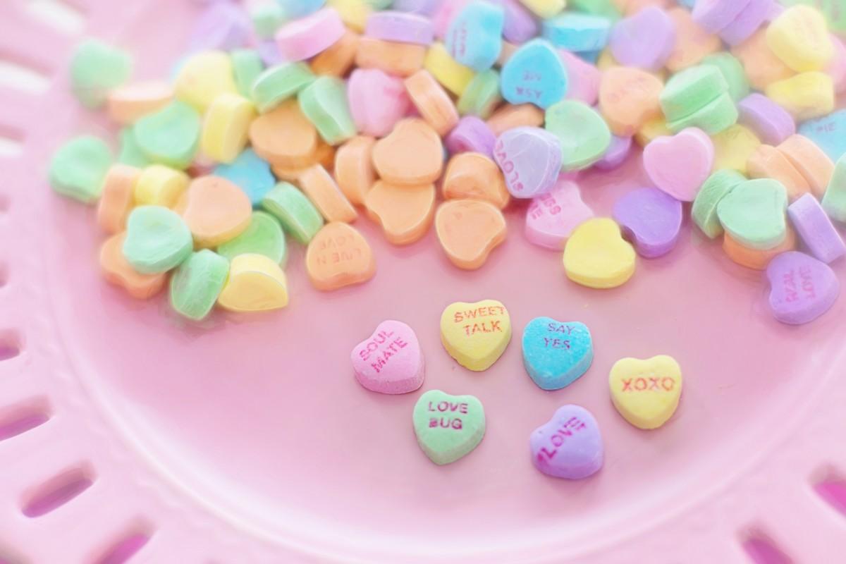 Conversation hearts candies