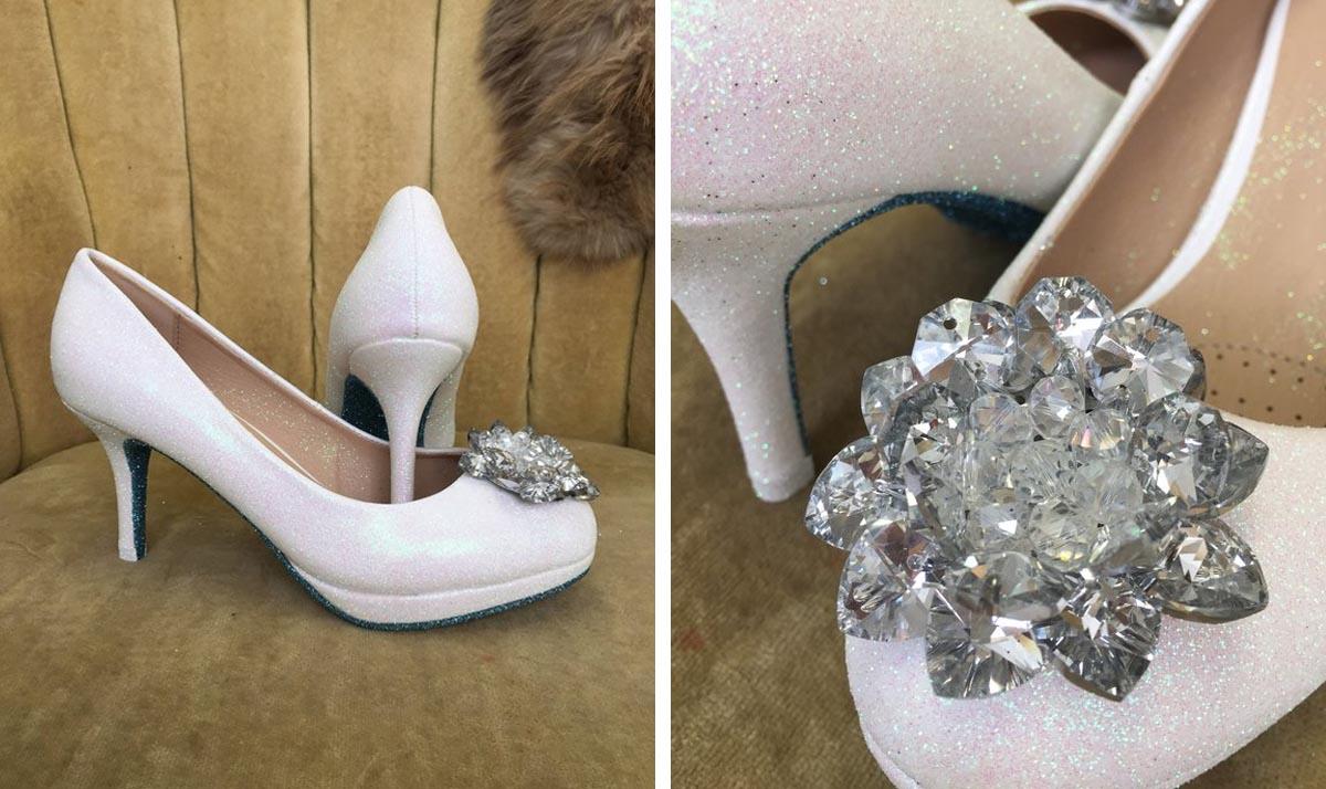 Cinderella Crystal Beading High Heels