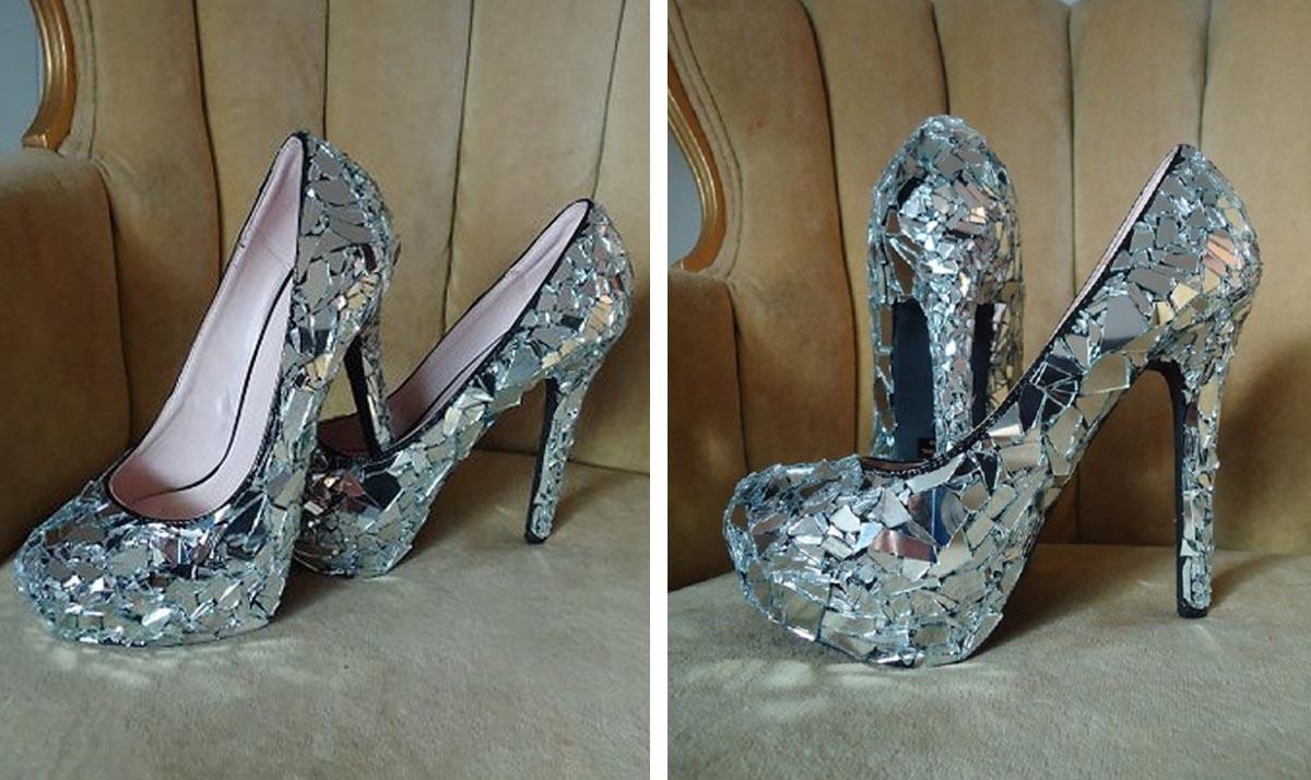 Cinderella Mirror High Heels