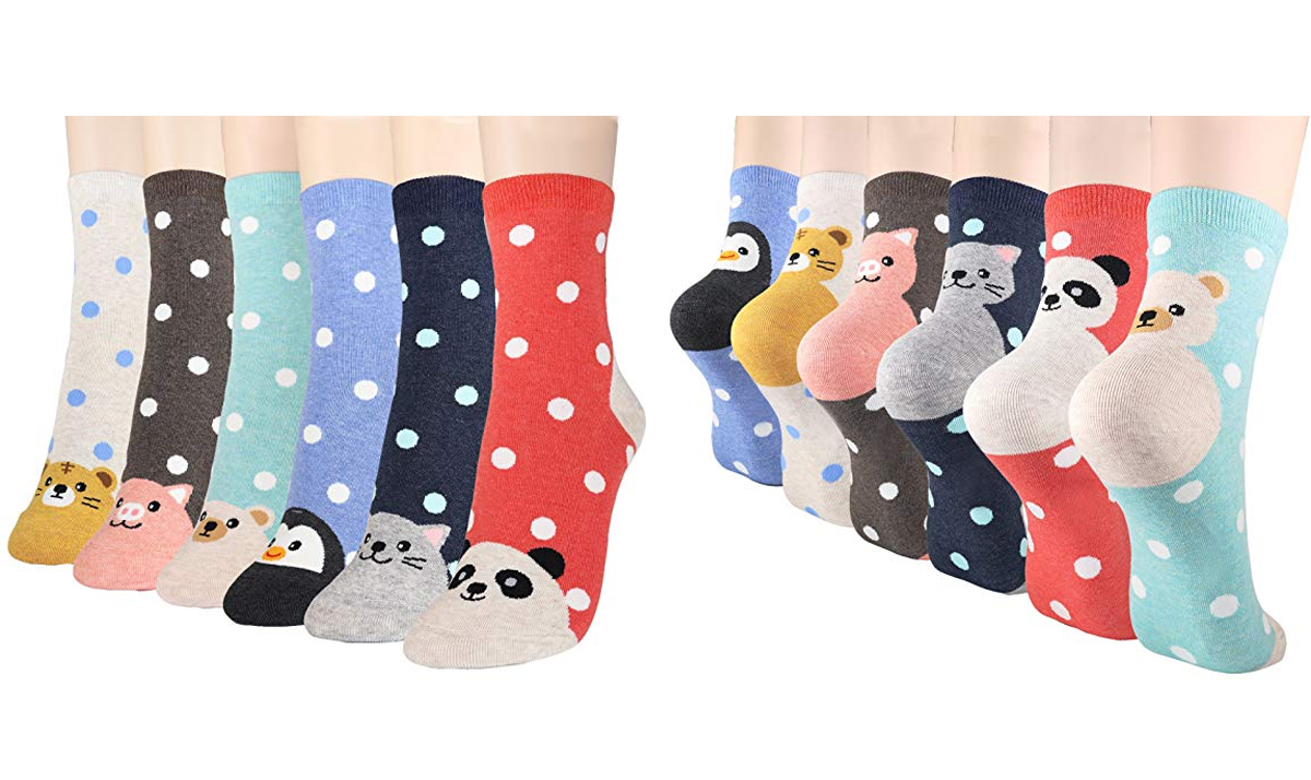 Cute Animal Faces Socks