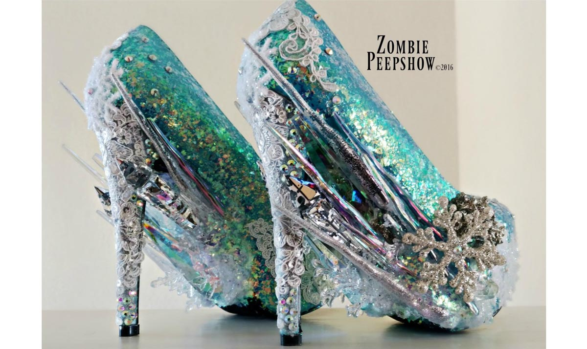 Frozen Crystal Icicle Pumps