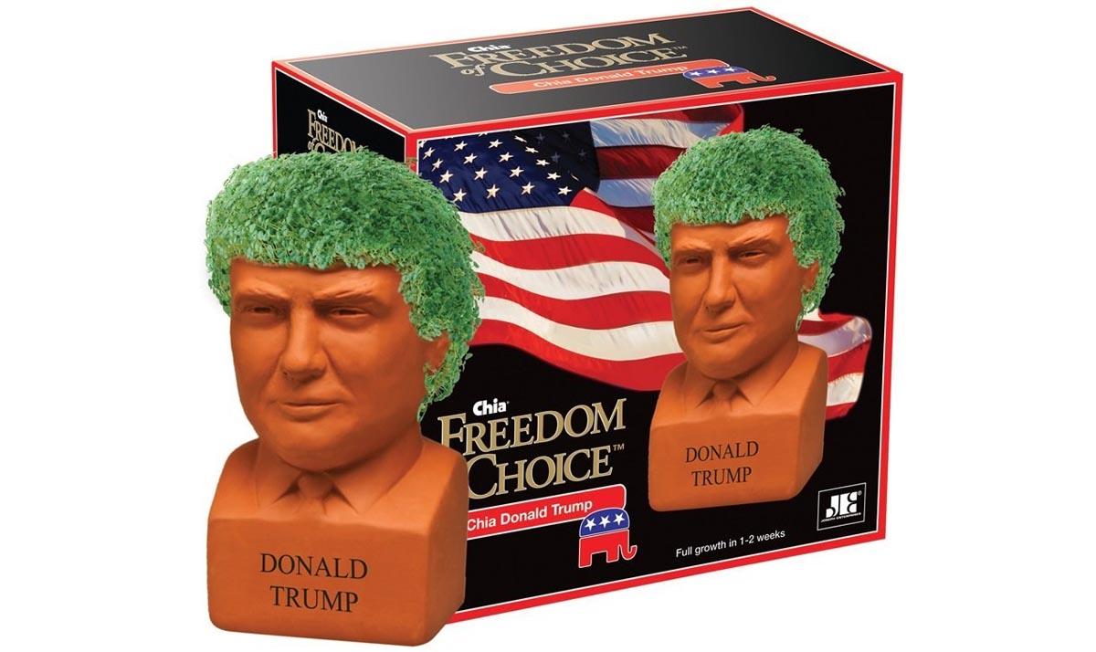 Donald Trump Pottery Planter