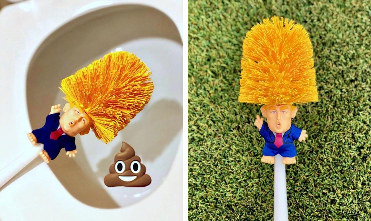 Donald Trump Toilet Bowl Brush