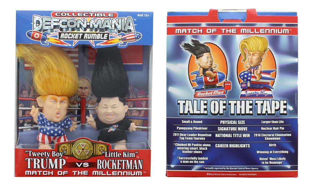 Donald Trump VS Kim Jong-un Troll Doll Set