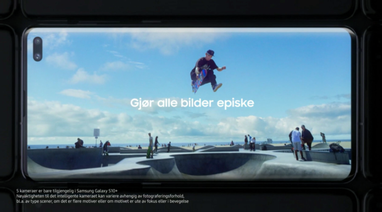Norway's largest TV station accidentally airs Galaxy S10 commercial 12