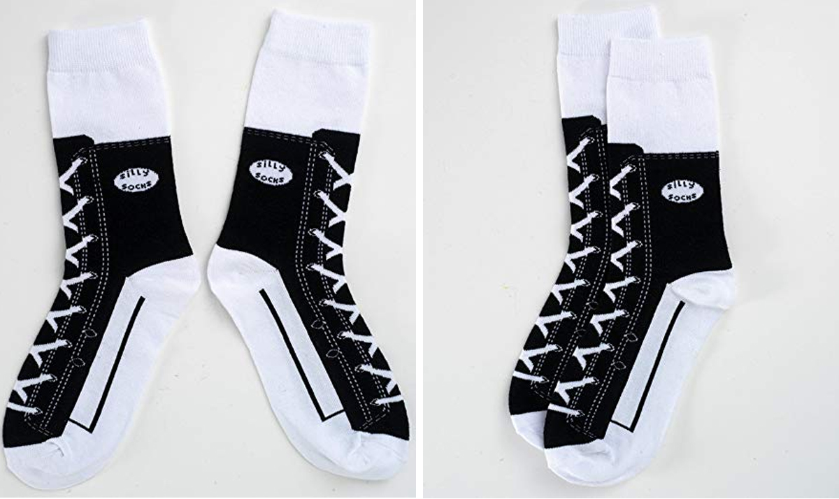 Hi-Top Sneaker Print Socks