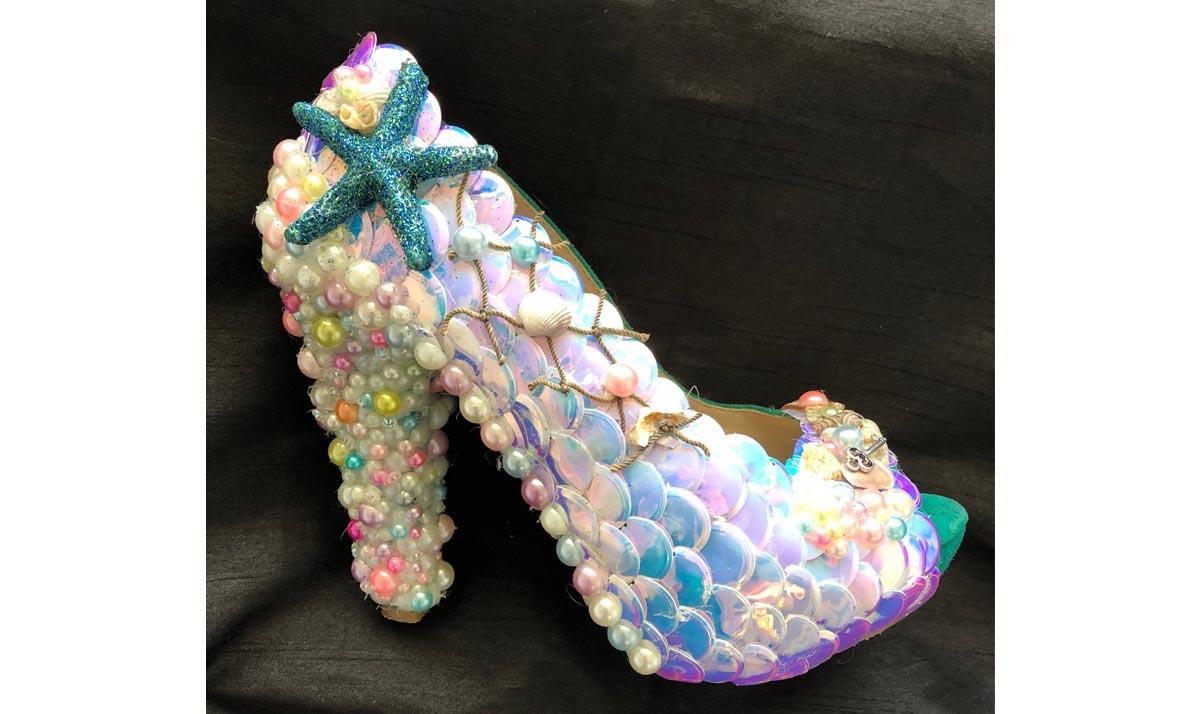 Little Mermaid-Themed Peep Toe High Heels