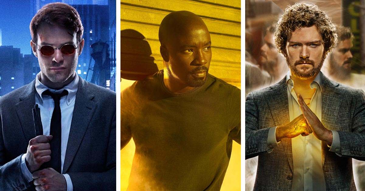 Daredevile, Luke Cage and Iron Fist