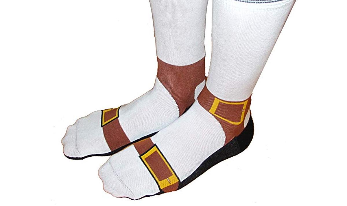 Sandal Print Socks