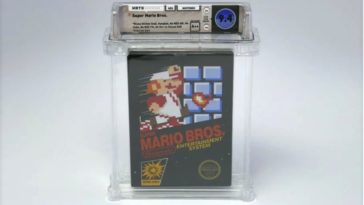 super mario bros nes auction 364x205 - Rare, unopened copy of Super Mario Bros fetches six-figures at auction
