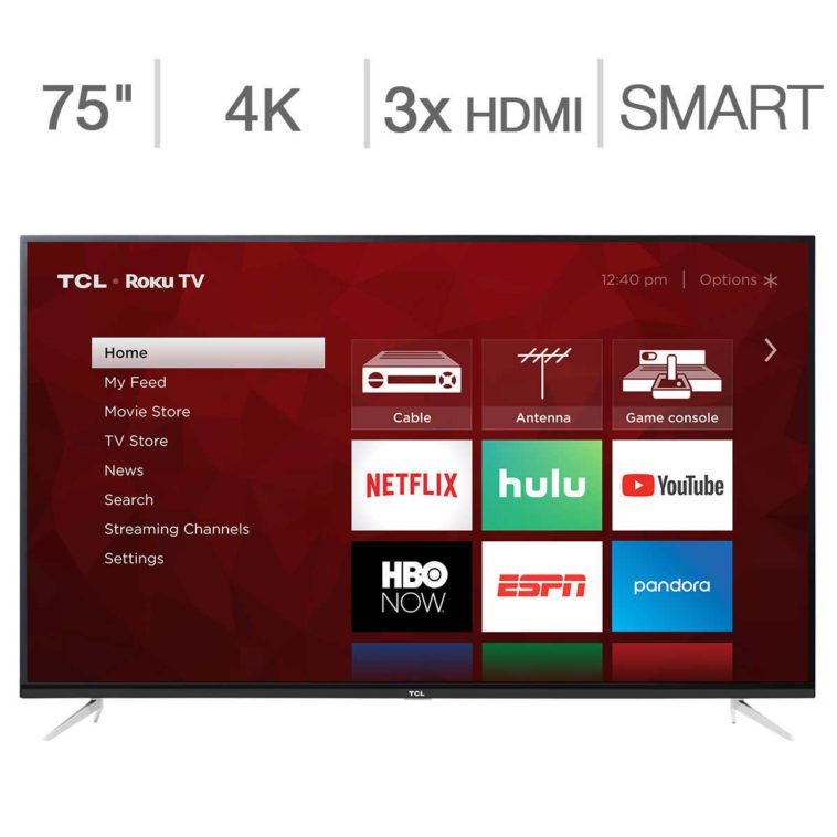 """Hot Deal: 75"""" TCL Roku TV for just $999 10"""