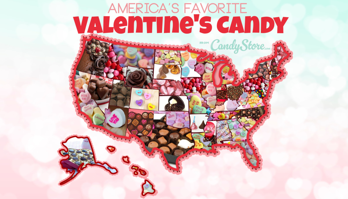 CandyStore.com's Valentine's Day candy map