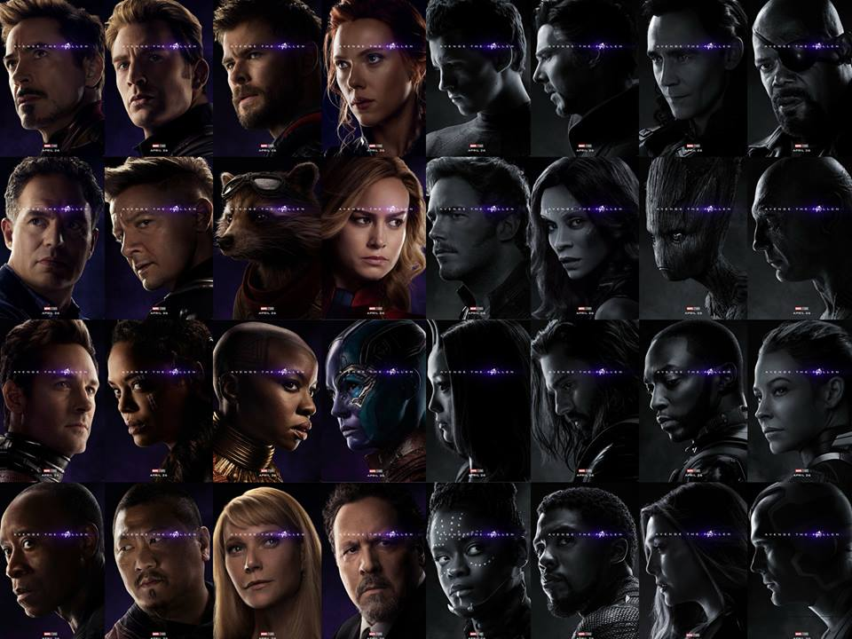 New Avengers: Endgame character posters