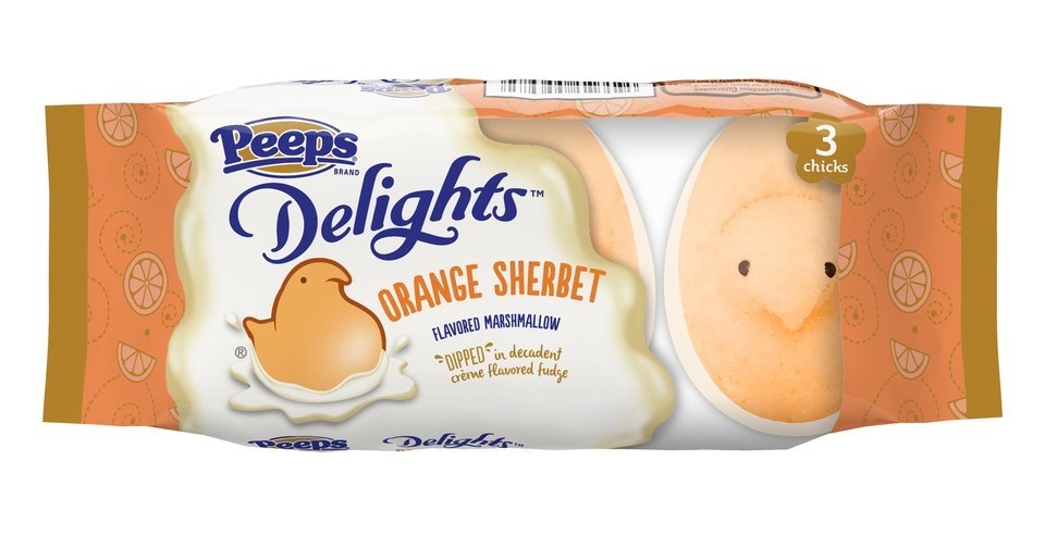 PEEPS® Delights™ Orange Sherbet Flavored Marshmallow Chicks Dipped in Crème