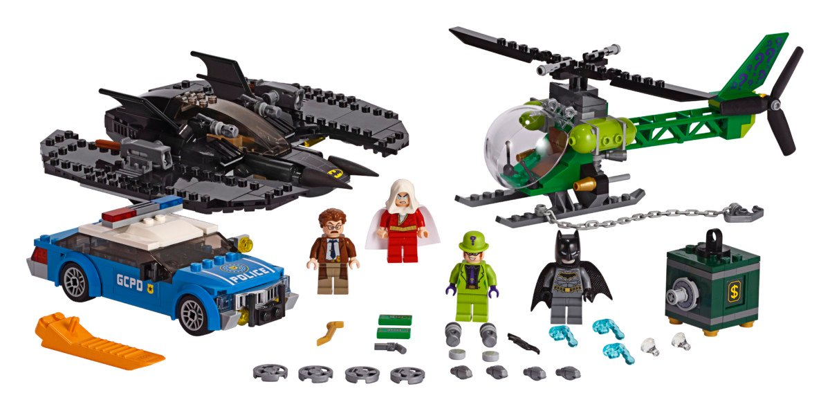 3 LEGO Batman Batwing and The Riddler Heist playset