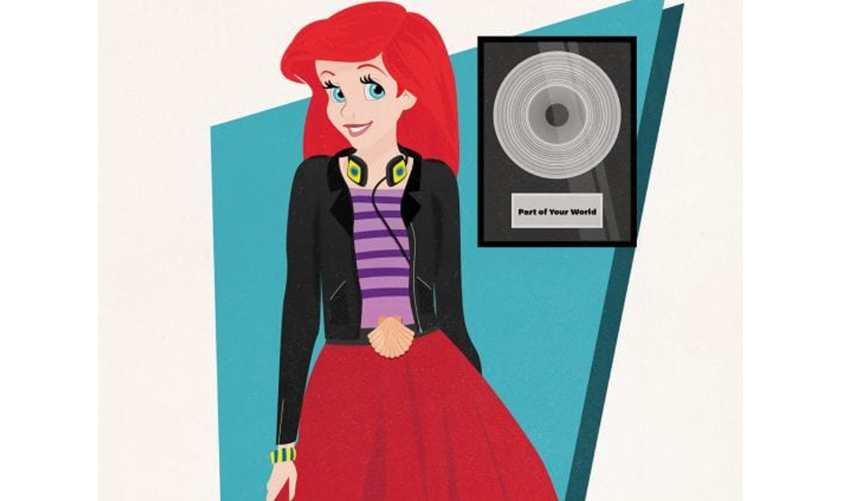 Ariel as a pop star and record producer