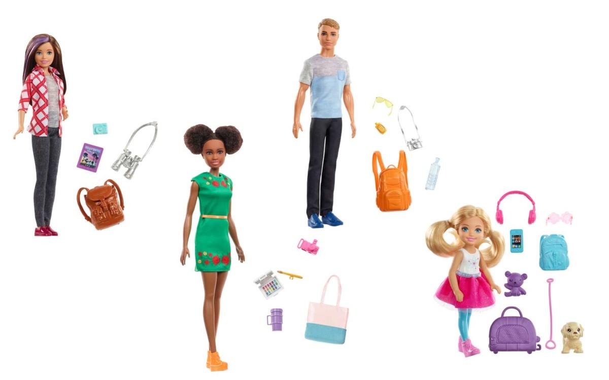 Skipper, Daisy, Ken and Nikki travel dolls