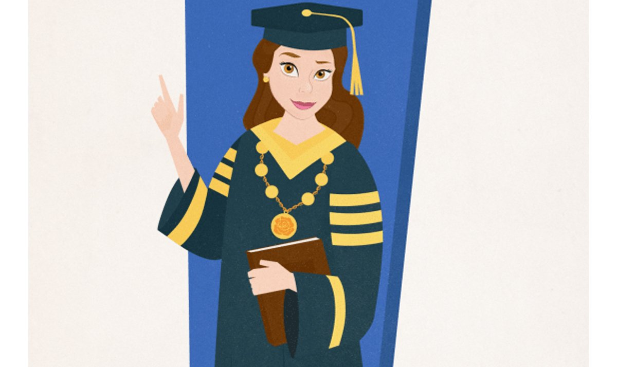 belle as a university chancellor - Disney Princesses as modern day career women