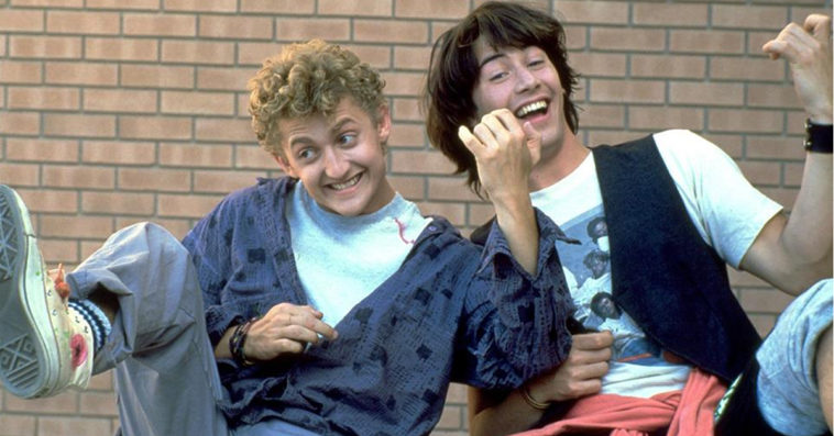 Alex Winter as Bill and Keanu Reeves as Ted