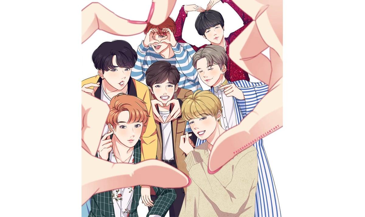 BTS boys as manga characters