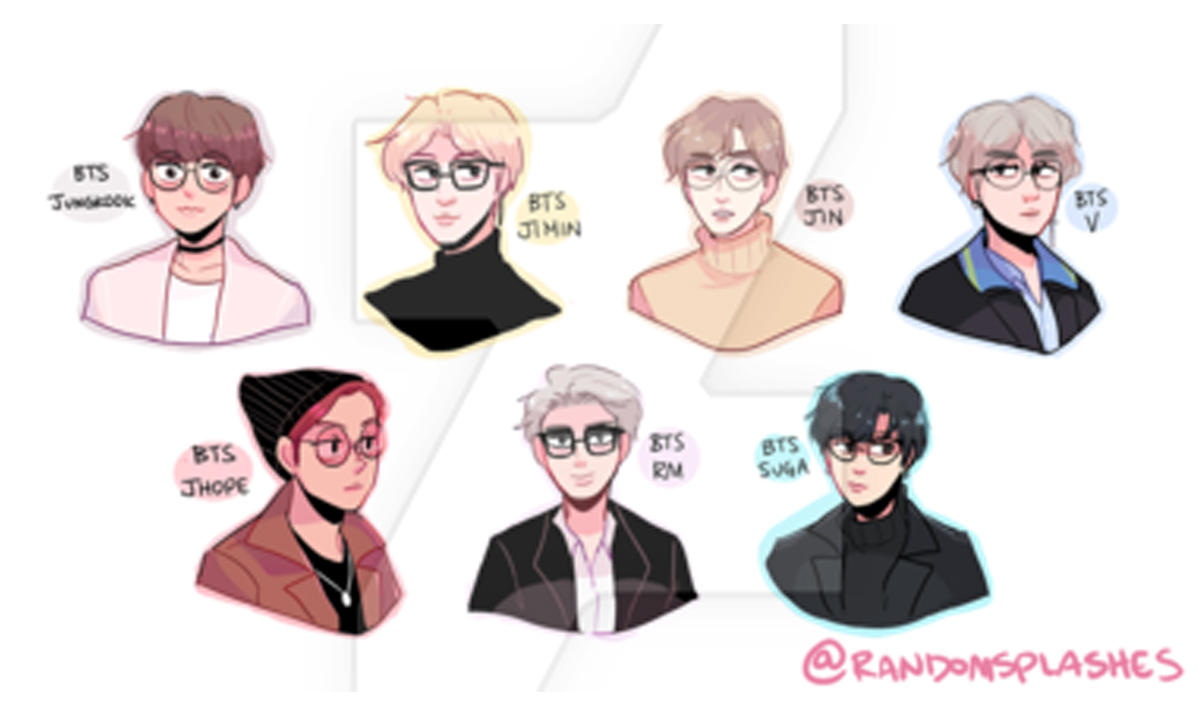 bts wearing eyeglasses - The BTS boys like you've never seen them before