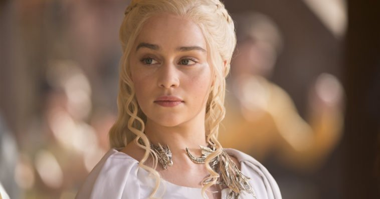 Emilia Clarke as Daenerys on HBO's Game of Thrones